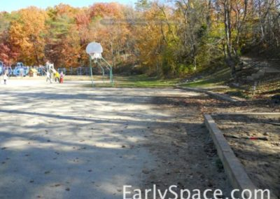 View towards basketball, before