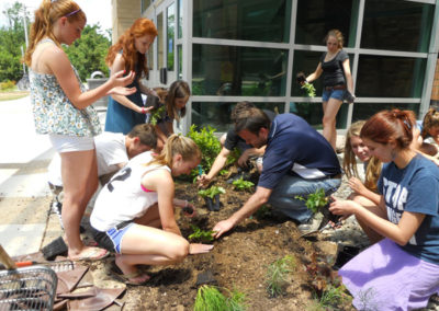 200 native plants all installed by students.