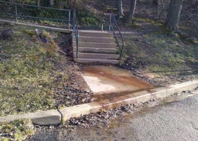 underground spring at entry, before